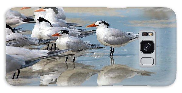 Sea Birds Galaxy Case by Gouzel -