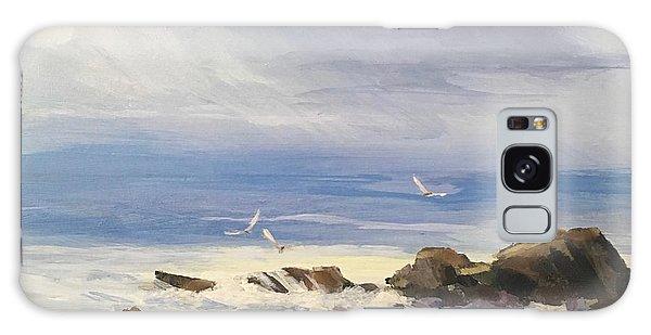 Sea Breeze Galaxy Case by Helen Harris