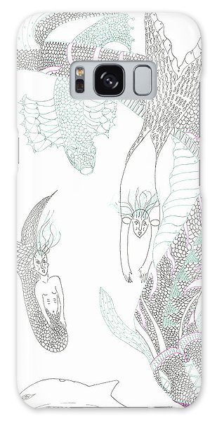 Sea Dragons And Mermaids Galaxy Case