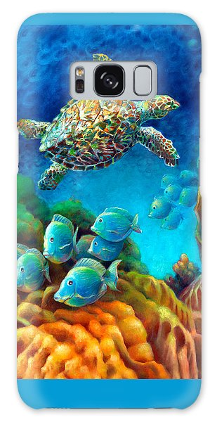 Sea Escape IIi - Gemstone Hawksbill Turtle Galaxy Case by Nancy Tilles