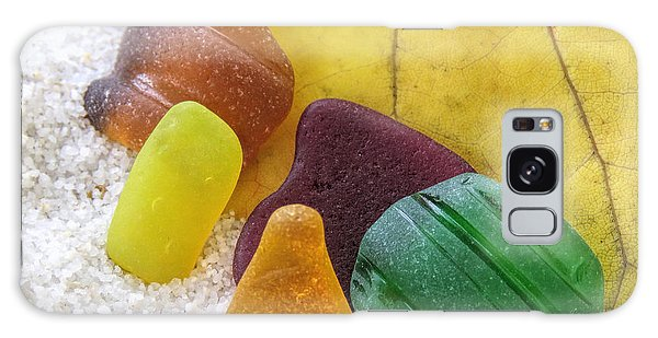 Sea Glass In Fall Colors Galaxy Case