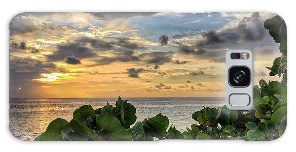 Sea Grape Sunrise Galaxy Case