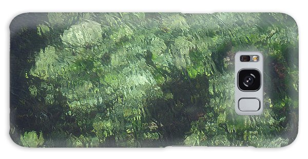 Sea Green Abstract Galaxy Case
