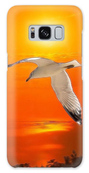 Sea Gull Galaxy Case by Athala Carole Bruckner