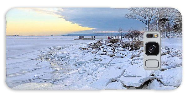 Sea Ice Chunks Galaxy Case