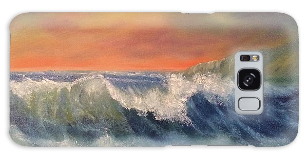 Galaxy Case featuring the painting Sea Mist by Denise Tomasura