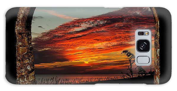 Sea Oats And Sunset Galaxy Case
