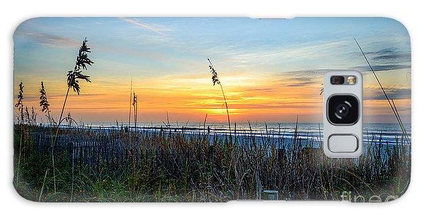 Sea Oats Sunrise Galaxy Case