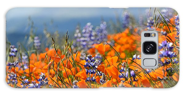 Galaxy Case featuring the photograph Sea Of California Wildflowers by Kyle Hanson