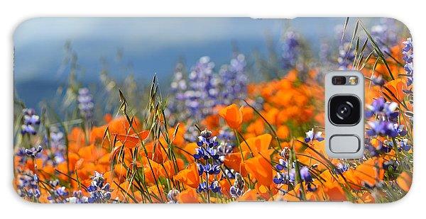 Sea Of California Wildflowers Galaxy Case