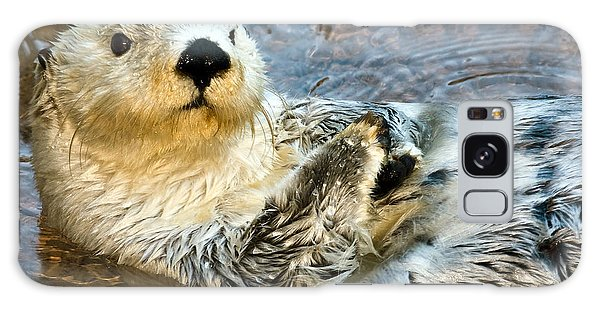 River Otter Galaxy Case - Sea Otter Portrait by Jim Chamberlain