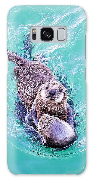 Sea Otter Pup Galaxy Case
