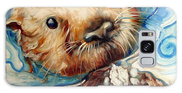 Sea Otter Swim Galaxy Case