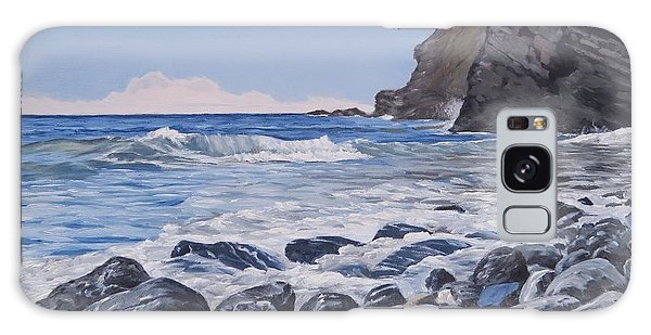 Galaxy Case featuring the painting Sea Pounded Stones At Crackington Haven by Lawrence Dyer