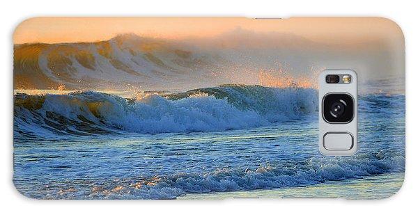 Sea Smoke Sunrise Galaxy Case by Dianne Cowen