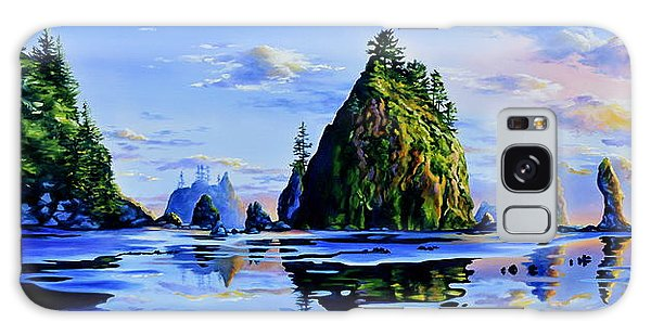 Sea Stacks Galaxy Case - Sea Stack Serenity by Hanne Lore Koehler