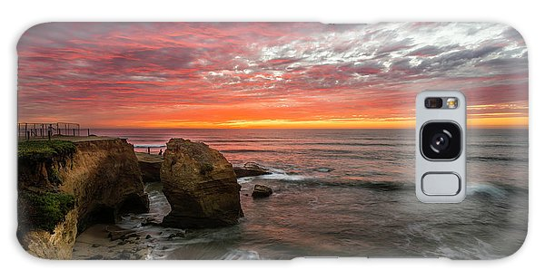 Sea Stack Sunset Galaxy Case