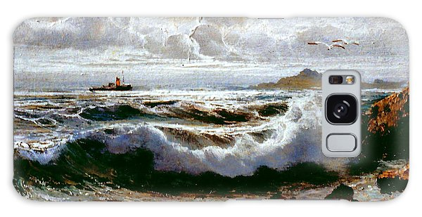 Galaxy Case featuring the painting Sea Storm by Rosario Piazza