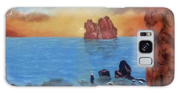 Sea Sunset Galaxy Case