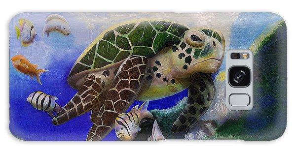 Sea Turtle Acrylic Painting Galaxy Case