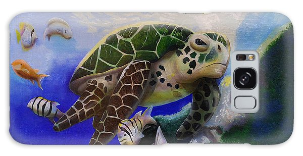 Sea Turtle Acrylic Painting Galaxy Case by Thomas J Herring