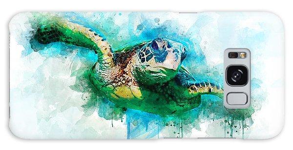 Turtle Galaxy Case - Sea Turtle  by Aged Pixel