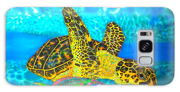 Sea Turtle And Parrotfish Galaxy Case