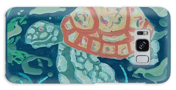 Sea Turtle At Twilight  Galaxy Case