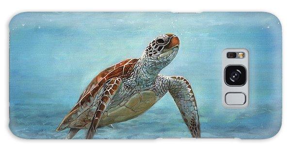 Sea Turtle Galaxy Case by David Stribbling