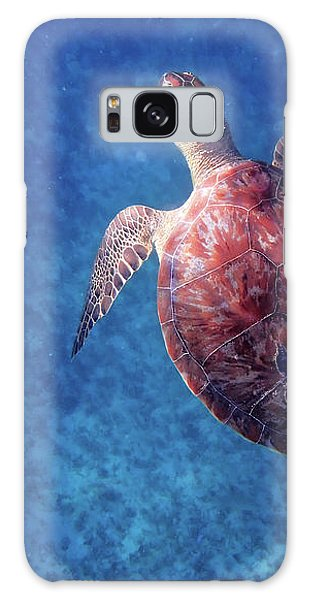 Galaxy Case featuring the photograph Sea Turtle by Lars Lentz