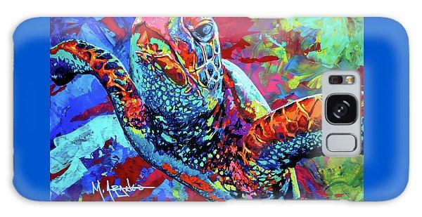 Swimming Galaxy Case - Sea Turtle by Maria Arango