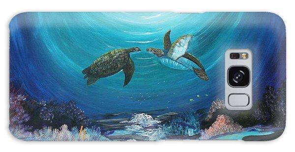 Sea Turtles Greeting Galaxy Case by Myrna Walsh