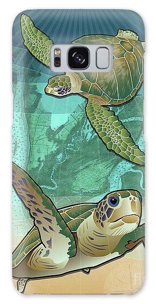 Turtle Galaxy Case - Sea Turtles Near Beaufort, Sc by Joe Barsin