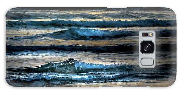 Sea Waves After Sunset Galaxy Case