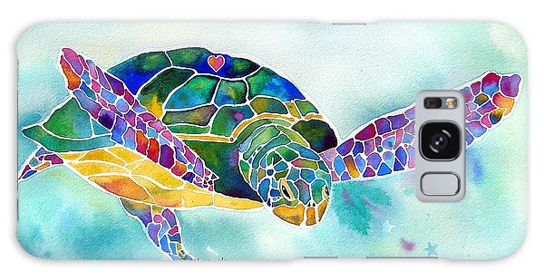 Florida Galaxy Case - Sea Weed Sea Turtle  by Jo Lynch