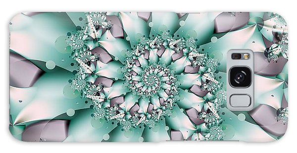 Seafoam Spring Galaxy Case by Michelle H
