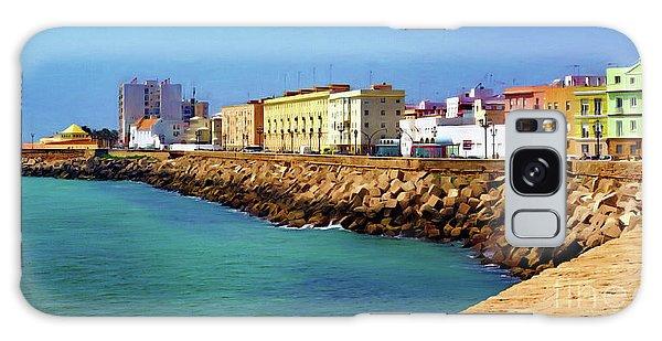 Seafront Promenade In Cadiz Galaxy Case