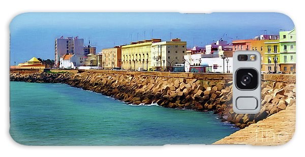 Seafront Promenade In Cadiz Galaxy Case