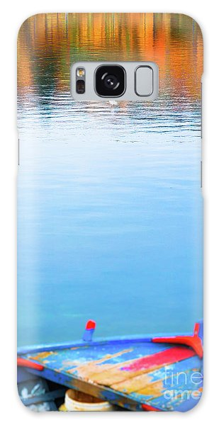 Galaxy Case featuring the photograph Seagull And Boat by Silvia Ganora