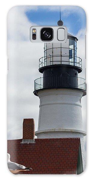 Seagull At Portland Head Light Galaxy Case