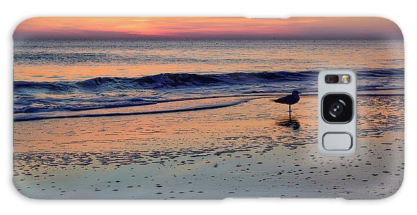 Seagull At Sunrise Galaxy Case