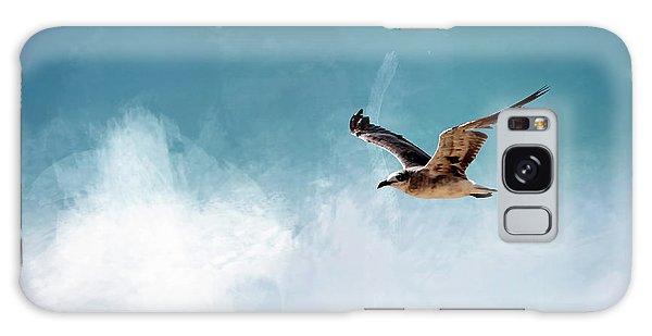 Seagull In Flight Galaxy Case by Cyndy Doty