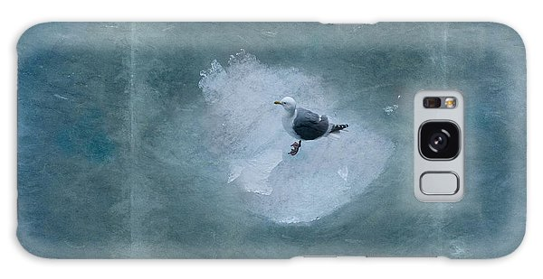 Seagull On Iceflow Galaxy Case by Victoria Harrington
