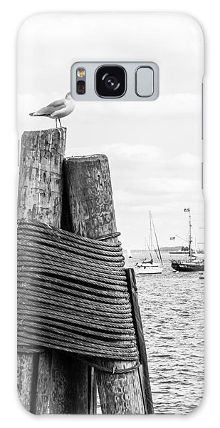 Galaxy Case featuring the photograph Seagull On Mooring by SR Green