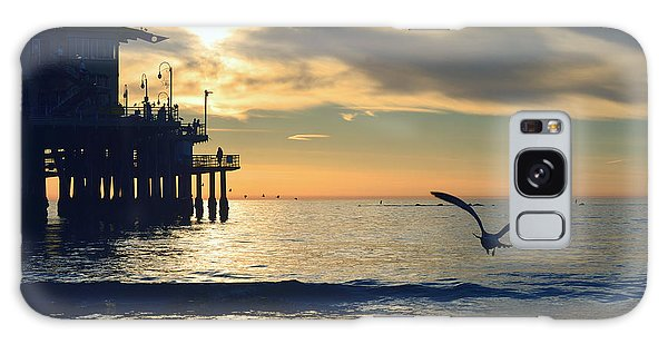 Seagull Pier Sunrise Seascape C2 Galaxy Case