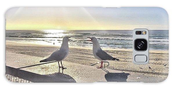 Seagulls Galaxy Case - Seagull Sonnet  by Az Jackson
