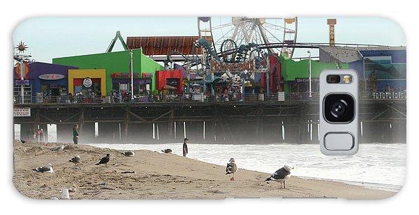 Seagulls And Ferris Wheel Galaxy Case