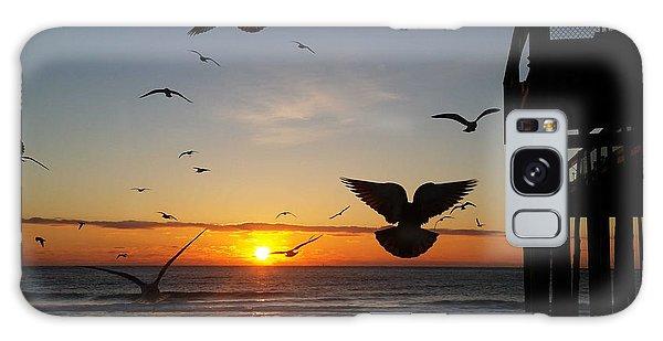 Seagulls At Sunrise Galaxy Case