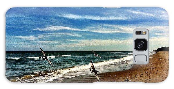Seagulls At The Beach Galaxy Case by Carlos Avila