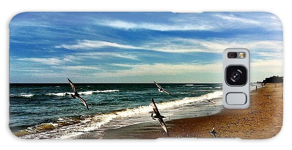 Seagulls At The Beach Galaxy Case by Carlos Avila